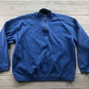 Tommy Bahama Blue Quarter Zip SWEATER Pullover